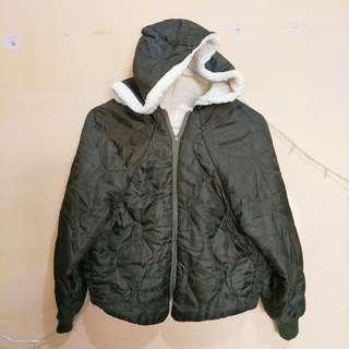 Jaket winter bulu angsa import bolak balik