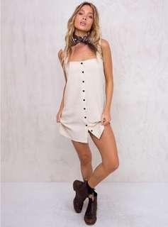 princess polly linen aspen mini dress button up