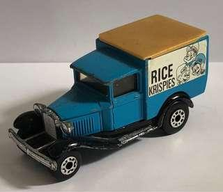 Diecast model car, Kellogg's Rice Krispies, Ford Model A.