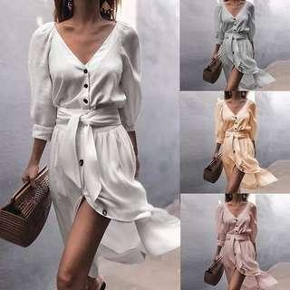 (PO) Button Up Dress