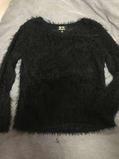 Black fluffy sweater