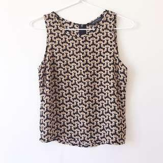 *NEW* Glassons Patterned Tank Top Size 6