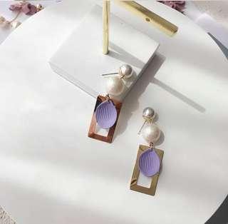復古 壓克力 韓版 耳環 earrings