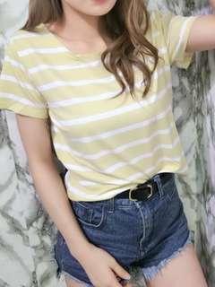🚚 降價出清👏黃色條紋上衣