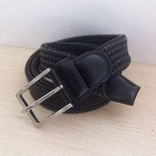 Men's Leather braided belt size L