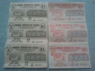 Oldskool collection...Tiket lama 4D(Magnum)