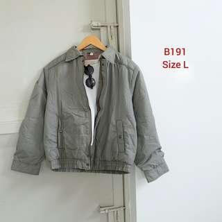 Ash Grey Bomber Jacket
