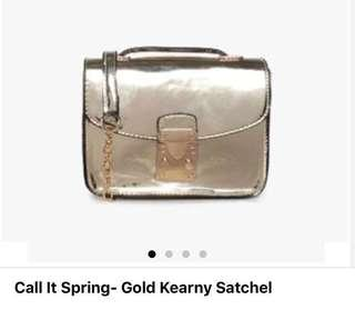 Call It Spring - Gold Kearny Cross Body and Hand Bag
