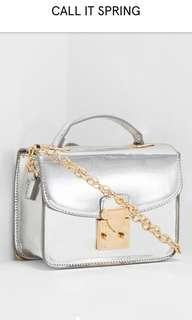 Call It Spring - Silver Kearny Cross Body and Hand Bag
