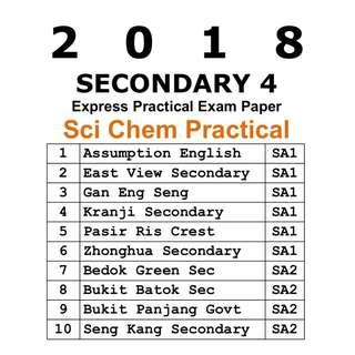 2018 Sec 4 Science Chemistry Practical exam paper / Express / Secondary 4 / Comb Chem / Practical Paper / exam paper / test paper / past year papers / Top School Paper / prelim paper / new syllabus
