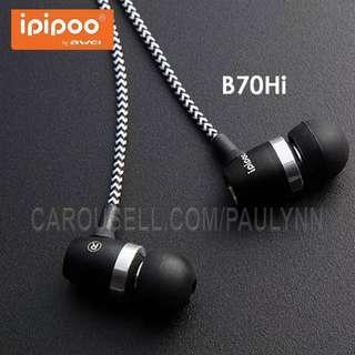 Ipipoo Wired Earphone Volume Control Answer Call