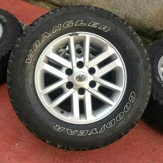 2012-2015 Fortuner Mags With Good Year Tires 🚘
