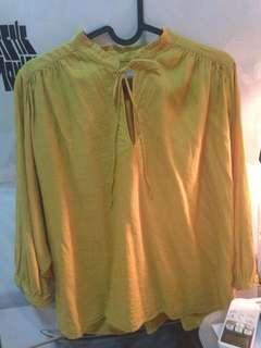 Uniqlo Yellow Tops
