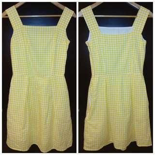 Yellow gingham dress 黃色方格連衣裙 #SELLITNOW