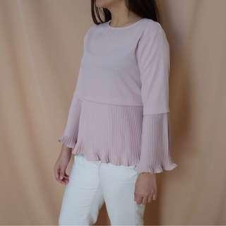 Baju lipit light pink