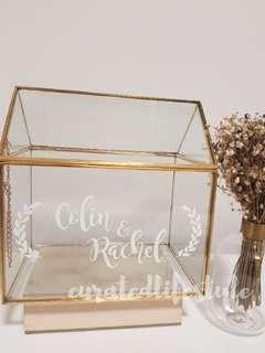 Customised gold geometric box