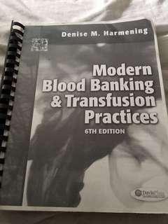 Modern Blood Banking 6th Edition by Harmening (Medical Technology Book) PDF PRINT AND BOOK BINDED