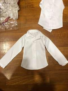 White collared Top bjd doll