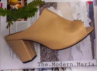 Brown/Tan Mules/ Heels