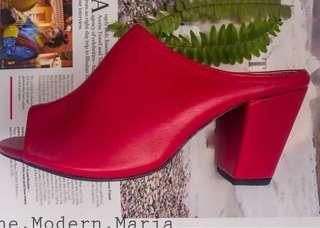 Red Mules Heels