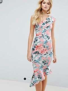 Asos One Shoulder Midi Dress