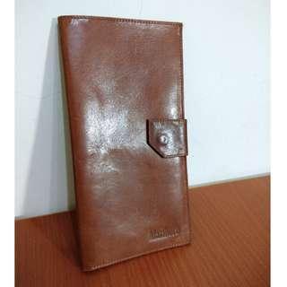 早期摩登時代 美好時光 vintage Marlboro 真皮 古著 多夾層 長夾 護照夾