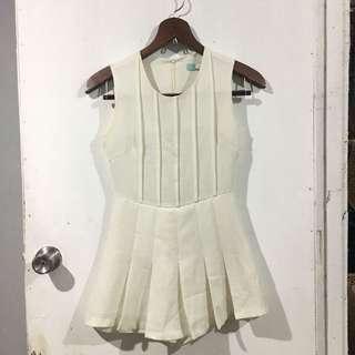 Dress / Romper 5 - White Pleated Romper