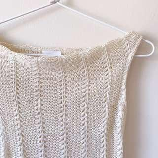 Off shoulder knit top size XS