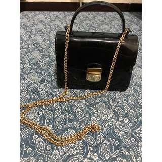 Black Chain Bag - PVC (Small)