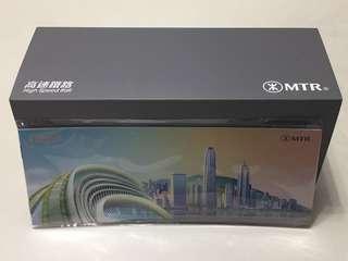 全新 港鐵 MTR 特別版 廣深港 廣州 深圳 香港 高速鐵路 高鐵 動感號 火車模型+紀念冊