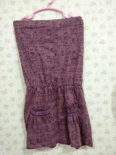 Dress kemben motif kartun