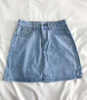 🚚 Light Denim AA Skirt