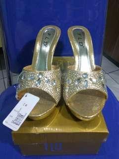 Sepatu Pesta Fladeo Gold #onlinesale