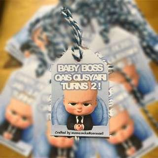 ✔️10 pcs Party tags / Goodie tags / Gift tags / Birthday tags - baby boss
