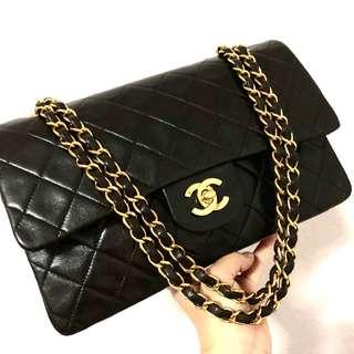 Authentic Chanel Classic Lambskin Double Flap with 24k Gold Hardware