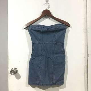Dress 12 - Denim Tube Bodycon Dress