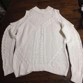 💜H&M cold shoulder knit blouse