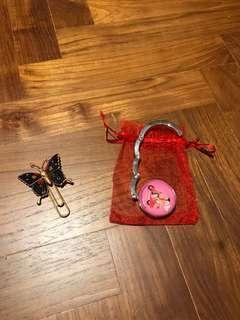 Handbag Table Holder and Paper Pin
