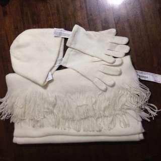 💜F21 set of scarf/beanie/gloves