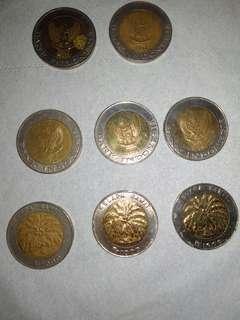 Bisa nego, Uang logam koin Rp 1.000,- gambar kelapa sawit
