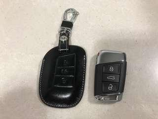 Car key fob leather cover