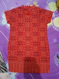 Dress batik cheongsam