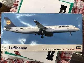 Hasegawa Lufthansa - A321 1:200 飛機模型