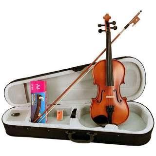★SEKWANG★SVN-300雲杉實木小提琴(琴盒/弓/松香/肩墊)~4/4-1/8外銷限定款