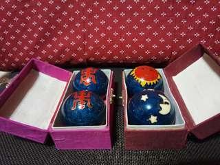 景泰藍健康響球(摇一摇球會響)2組一起賣不單賣