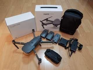Like New DJI Mavic Pro Fly More Combo with 4 batteries