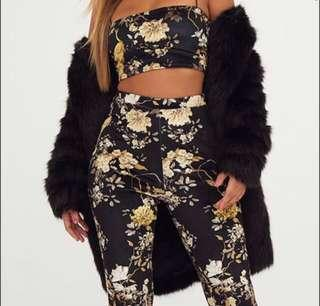 PRETTY LITTLE THING FLORAL VELVET SET/ KOURTNEY KARDASHIAN COLLAB
