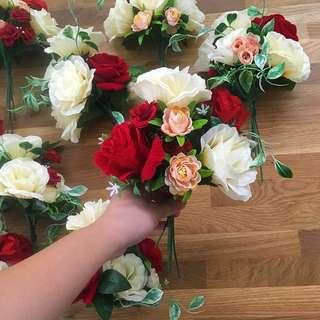 Hand bouquet roses wedding bridesmaid