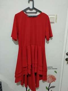 Red dress made on..