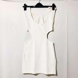 White Body con Cut-out Dress